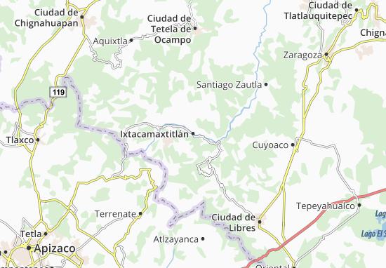 Carte-Plan Ixtacamaxtitlán