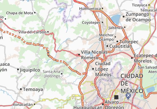 Carte-Plan Villa Nicolás Romero