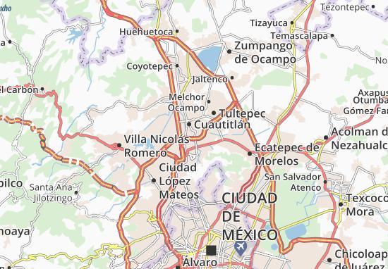Carte-Plan Tultitlán de Mariano Escobedo