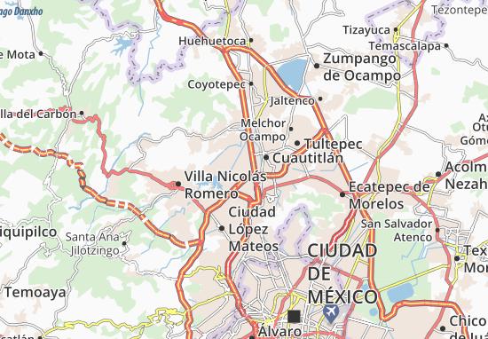 Carte-Plan Cuautitlán Izcalli