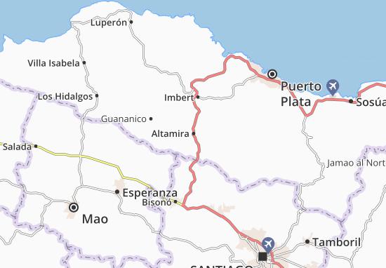 Karte Stadtplan Altamira