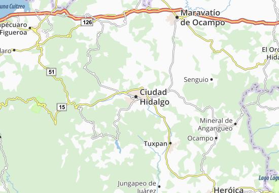 Mapas-Planos Ciudad Hidalgo