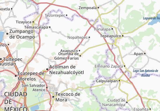 Carte-Plan Otumba de Gómez Farías