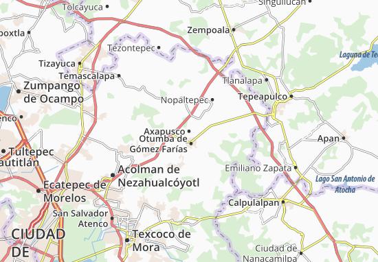 Nezahualcoyotl Mexico Map.Axapusco Map Detailed Maps For The City Of Axapusco Viamichelin