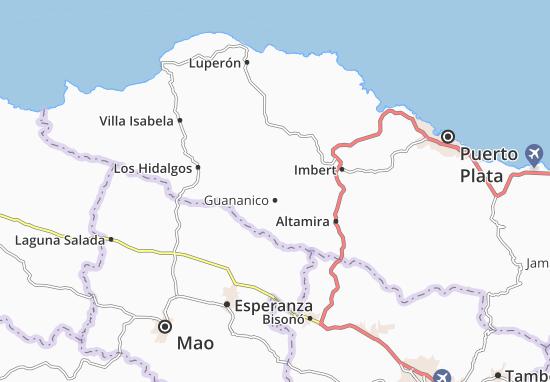 Kaart Plattegrond Guananico