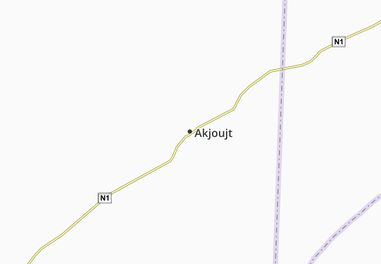 Carte-Plan Akjoujt