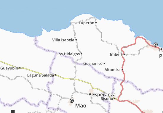 Los Hidalgos Map