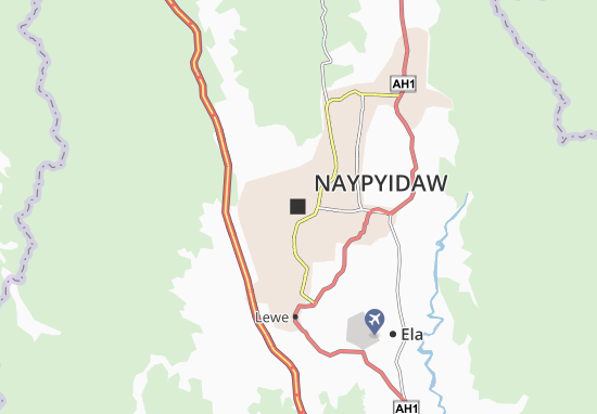 Mapa Plano Naypyidaw