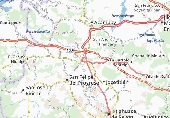 Carte-Plan Atlacomulco de Fabela
