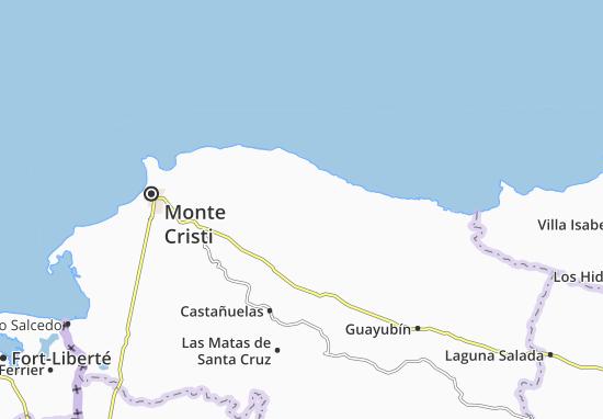 Kaart Plattegrond Villa Vásquez