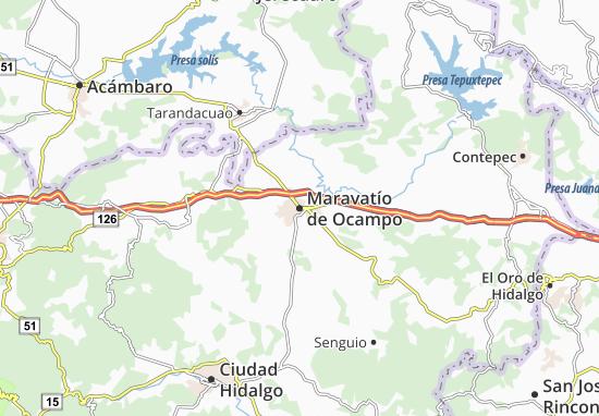 Carte-Plan Maravatío de Ocampo