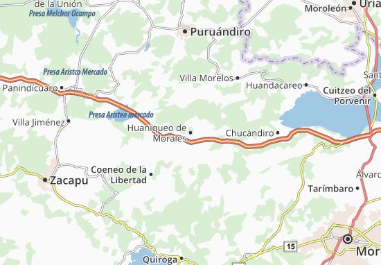 Carte-Plan Huaniqueo de Morales