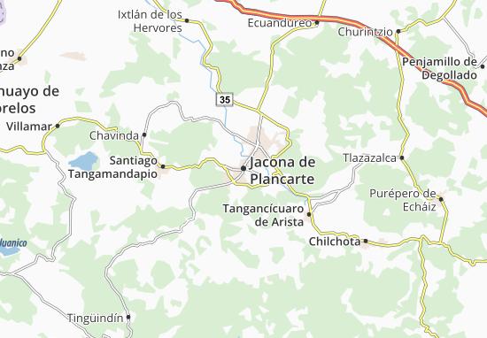 Jacona de Plancarte Map: Detailed maps for the city of Jacona de ...