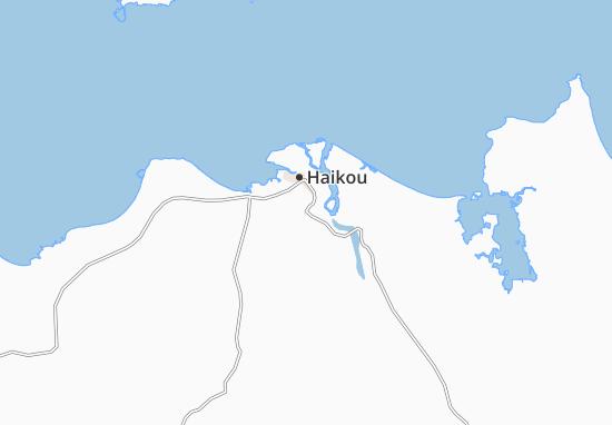 Kaart Plattegrond Qiongshan
