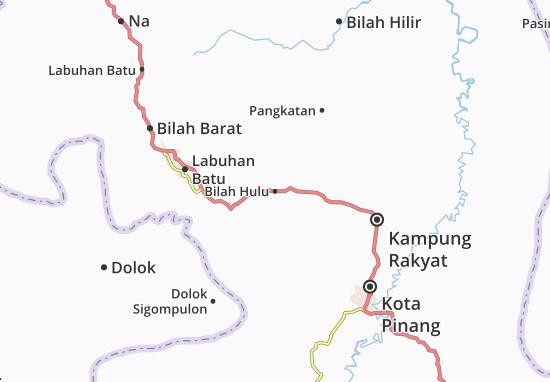 Bilah Hulu Map
