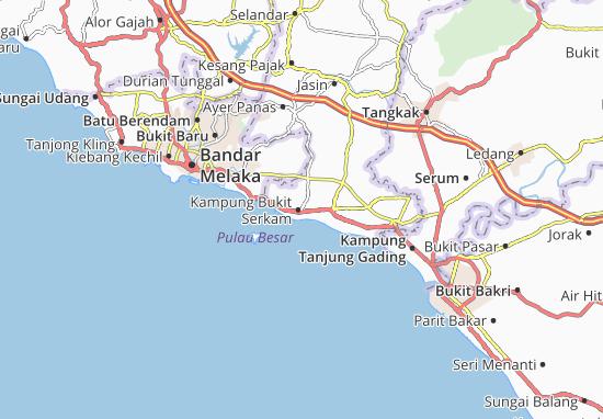 Kampung Bukit Serkam Map
