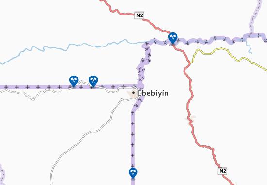 Ebebiyín Map