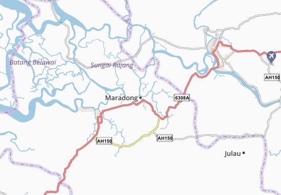 Kaart Plattegrond Maradong
