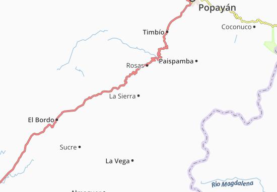 Carte-Plan La Sierra