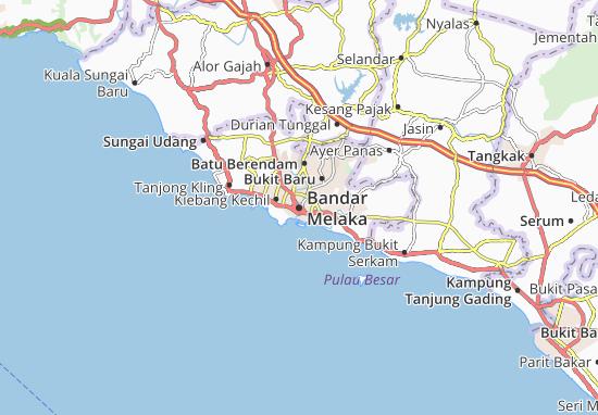 Malacca Map: Detailed maps for the city of Malacca - ViaMichelin on mexico city map, malaysia map, venice map, jerusalem map, malay peninsula map, cuba map, mecca map, maldives map, goa map, kyoto map, great zimbabwe map, strait of hormuz map, pakistan map, ceylon map, macau map, penang map, timbuktu map, calicut map, baghdad map, moluccas map,