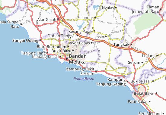 Ayer Molek Map