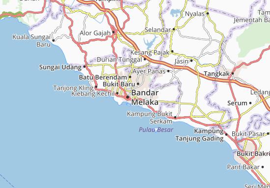 Bukit Piatu Map