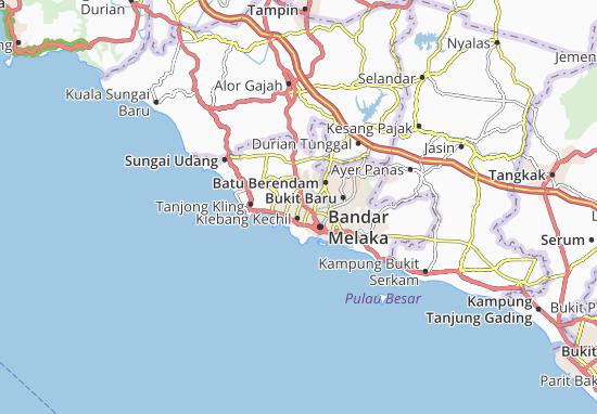Kaart Plattegrond Balai Panjang