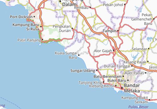 Kuala Sungai Baru Map