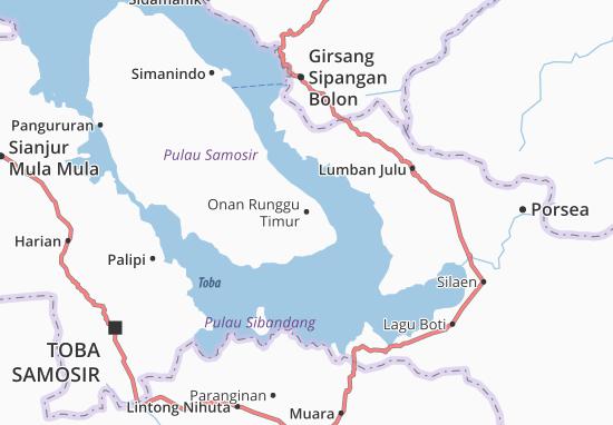 Carte-Plan Onan Runggu Timur