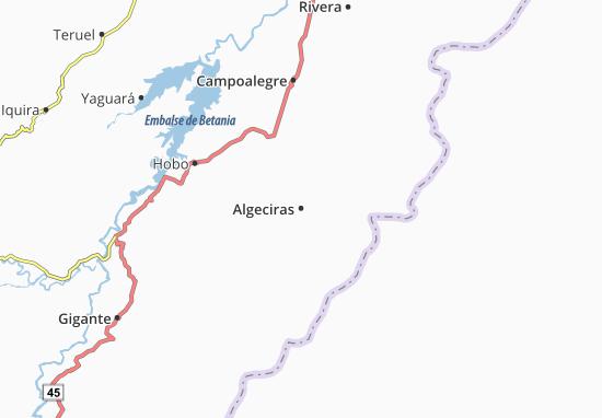 Carte-Plan Algeciras