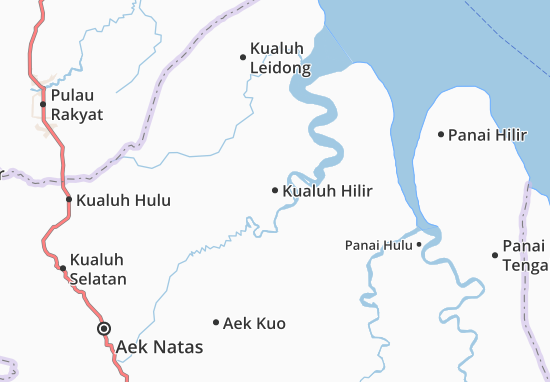 Kualuh Hilir Map