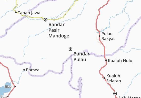 Kaart Plattegrond Bandar Pulau