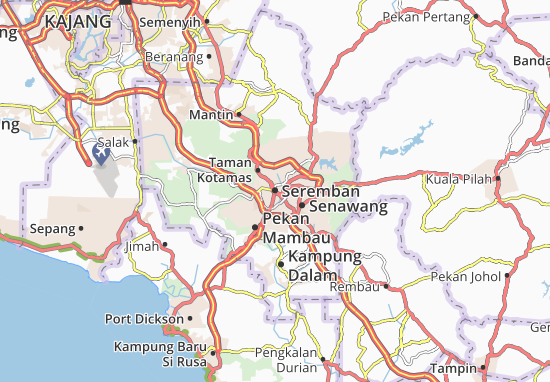 Seremban Map: Detailed maps for the city of Seremban ...