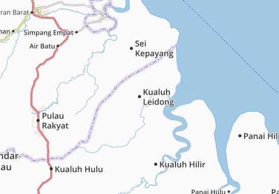 Kaart Plattegrond Kualuh Leidong