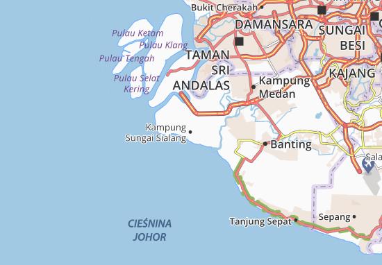 Kampung Sungai Sialang Map