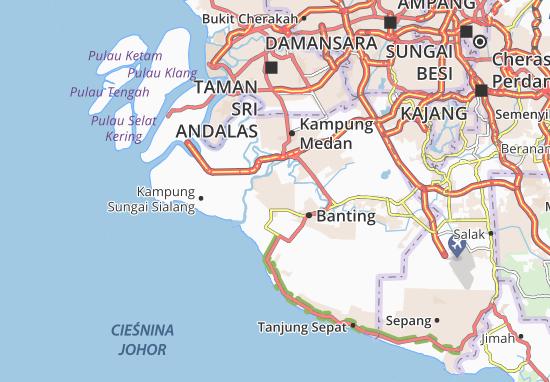 Kampung Tanah Raja Map
