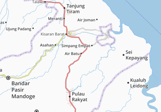 Carte-Plan Air Batu