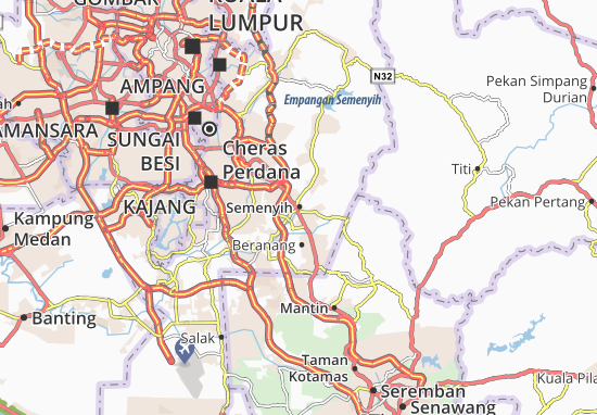 find any address on the map of semenyih or calculate your itinerary to and from semenyih find all the tourist attractions and michelin guide