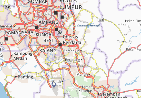 Bangi Map: Detailed maps for the city of Bangi - ViaMichelin