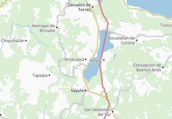Carte-Plan Amacueca