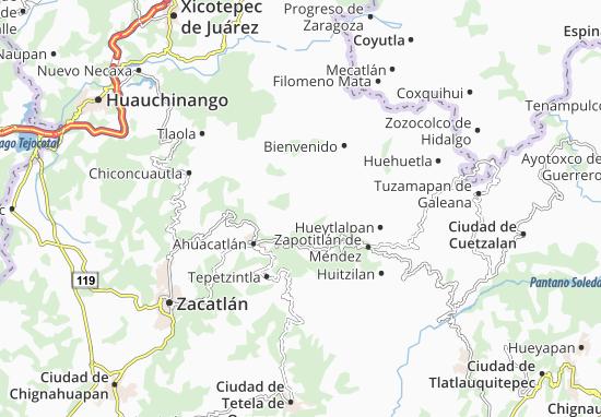 Carte-Plan Amixtlán