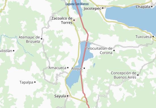 Carte-Plan Techaluta de Montenegro