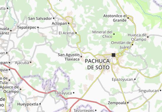 San Agustín Tlaxiaca Map