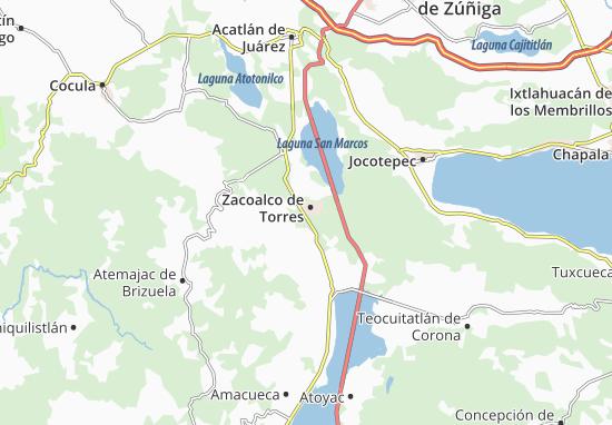 Carte-Plan Zacoalco de Torres