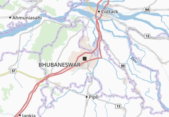 Carte-Plan Bhubaneswar