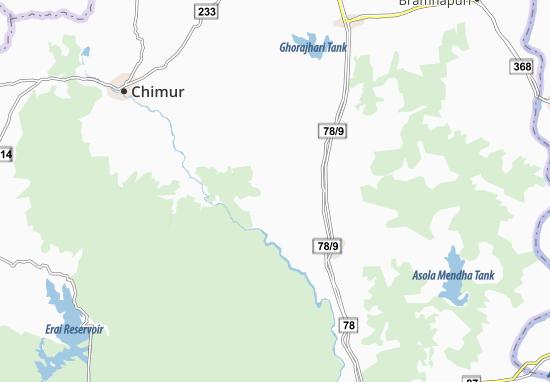 Kaart Plattegrond Nawargaon Buzurg