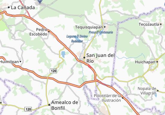 San Juan Alicante Mapa.Mapa San Juan Del Rio Plano San Juan Del Rio Viamichelin