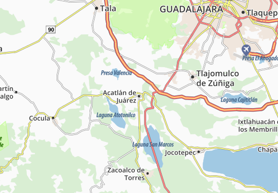 Carte-Plan Acatlán de Juárez
