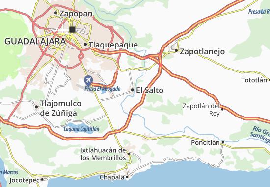 Carte-Plan Juanacatlán