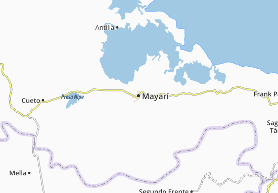 Mapa Plano Mayarí